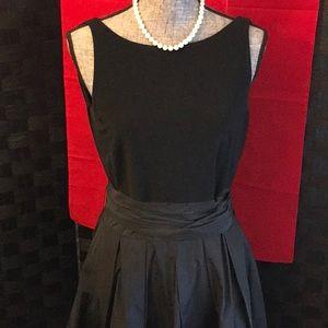Black Formal Midi Dress Classic Look